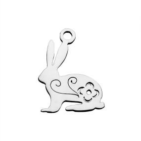 Přívěsek králík 16x12mm chirurgická ocel