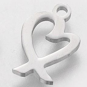 Přívěsek srdce 15x9mm chirurgická ocel