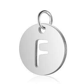 Přívěsek písmeno F 12x12mm chirurgická ocel