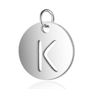 Přívěsek písmeno K 12x12mm chirurgická ocel