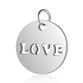 Přívěsek Love 12x12mm chirurgická ocel