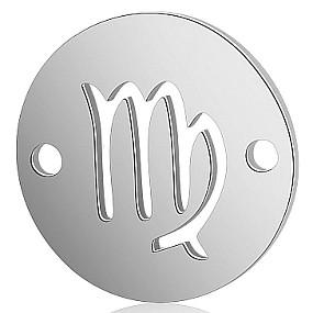 Mezidíl znamení zvěrokruhu - panna 13x13mm chirurgická ocel