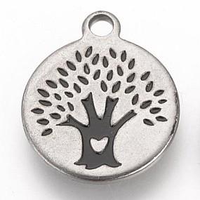 Přívěsek strom 14x12mm chirurgická ocel