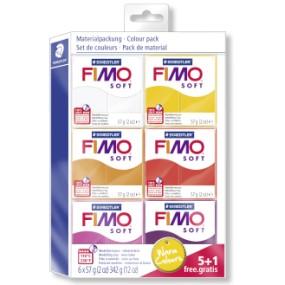FIMO soft sada 5+1 TEPLÉ BARVY