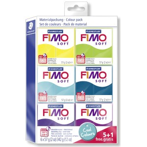 FIMO soft sada 5+1 CHLADNÉ BARVY