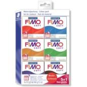 Fimo soft sada 5+1 základní barvy