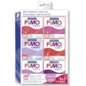 Fimo soft sada 5+1 valentýnské barvy