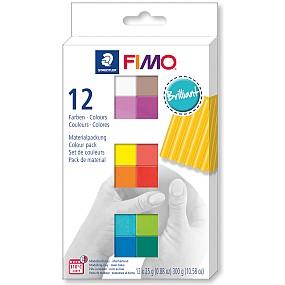 FIMO soft sada 12 barev 25g Brilliant