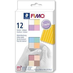 FIMO soft sada 12 barev 25g Pastel