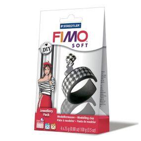 FIMO šperková sada Černá a bílá