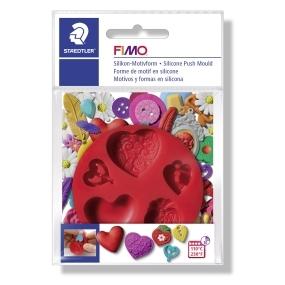 FIMO silikonová vytlačovací forma srdce