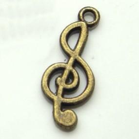 Přívěsek houslový klíč 25x10mm