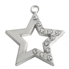 Přívěsek hvězda s kamínky 35x32mm