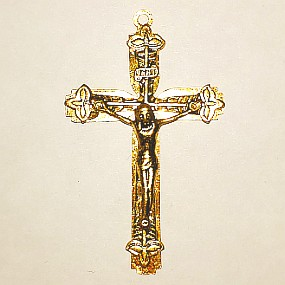 Přívěsek křížek zlatý 52x31mm