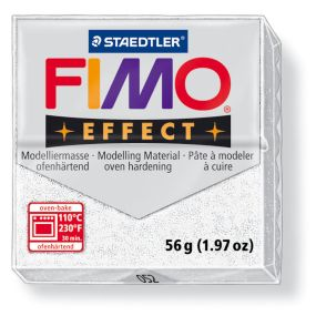 FIMO effect č. 052 bílá se třpytkami 57g