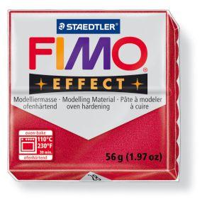 FIMO effect č. 28 metalická rubínová 57g