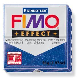 FIMO effect č. 302 modrá se třpytkami 57g