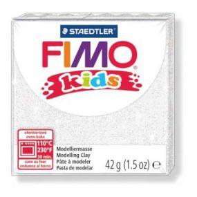 FIMO kids č. 052 bílá se třpytkami 42g