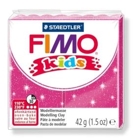 FIMO kids č. 262 růžová se třpytkami 42g