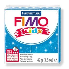 FIMO kids č. 312 modrá se třpytkami 42g