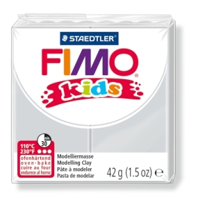 FIMO kids č. 80 světle šedá 42g