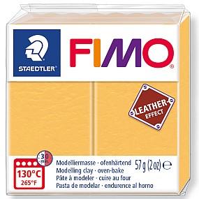 FIMO Leather šafránová žlutá 57g