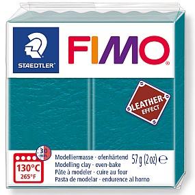 FIMO Leather zelená laguna 57g