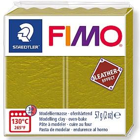 FIMO Leather olivová zelená 57g