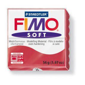 FIMO soft č. 26 tmavě červená 57g