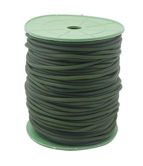Gumová šňůra nepružná 2mm 1m tmavě zelená