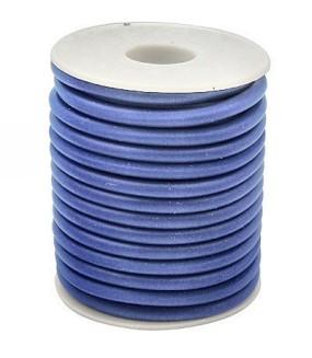 Gumová šňůra nepružná 3mm 1m světle modrá