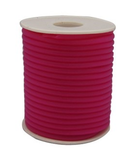 Gumová šňůra nepružná 4mm 1m růžová