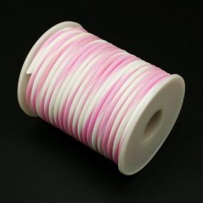 Gumová šňůra nepružná 4mm 1m světle růžovobílá