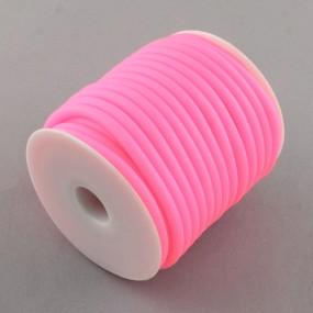 Gumová šňůra 5mm 1m růžová