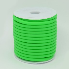 Gumová šňůra nepružná 5mm 1m zelená
