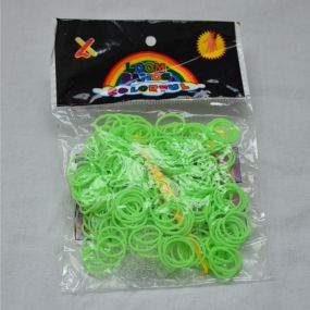 Gumičky na náramky Loom Bands zelené