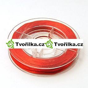 Pružná gumička průměr 0.8 mm, návin 10 m, červená