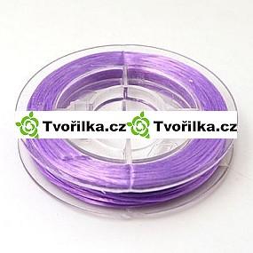 Pružná gumička průměr 0.8 mm, návin 10 m, fialová