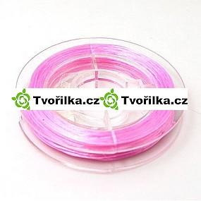 Pružná gumička průměr 0.8 mm, návin 10 m, růžová