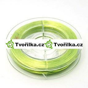 Pružná gumička průměr 0.8 mm, návin 10 m, zelená