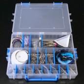 Velkých box plný bižuterních komponentů