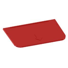 Přihrádka pro Ideal box velká červená
