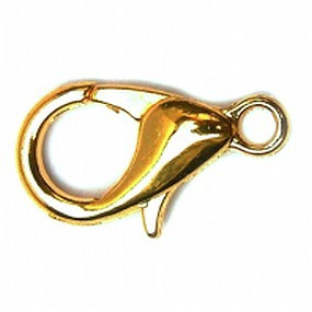 Karabinka zlatá b. 12mm (1ks)