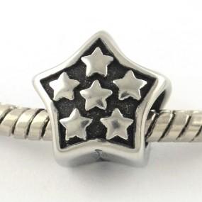 Korálek hvězda chirurgická ocel (1 ks)