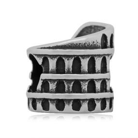 Korálek Koloseum (Řím) chirurgická ocel (1 ks)