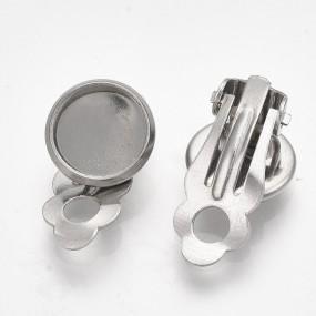 Klipsy s lůžkem 12mm (10mm vnitřní průměr) chirurgická ocel (2ks)