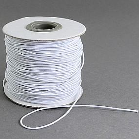 Klobouková guma průměr 1 mm, délka 1 m, bílá