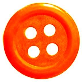 Obří knoflík oranžový 60mm