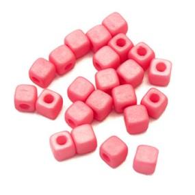 Cubix růžová matná 25ks