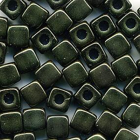 Cubix temně zelená lesklá 25ks